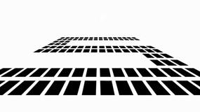 格子矩阵5秒倒计时开场动画PPT模板