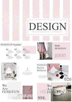 粉条清新相册风奢饰品行业产品发布会通用PPT模板