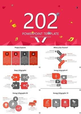 红色精美创意英文商业计划书实用ppt模板