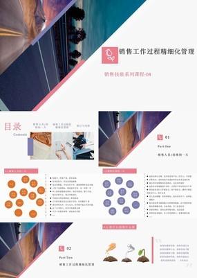 清雅商务风企业营销部门销售工作培训管理PPT模板