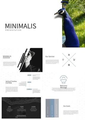 欧美时尚杂志风公司介绍产品宣传PPT模板