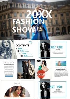 精美时尚杂志风品牌宣传画册PPT模板