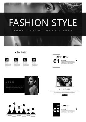 暗灰欧美大气时尚宣传画册企业宣传通用PPT模板