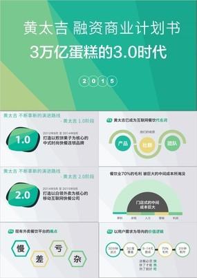 黄太吉外卖平台融资商业计划书PPT实例