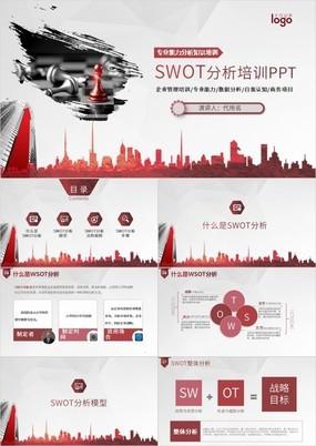 SWOT(企业战略分析法)培训课件PPT模板