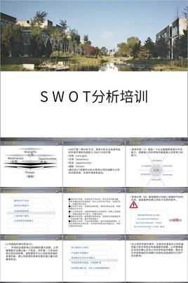 商务简洁SWOT分析培训PPT模板