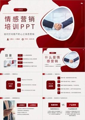 棕色渐变商务风打动客户之情感营销培训PPT模板