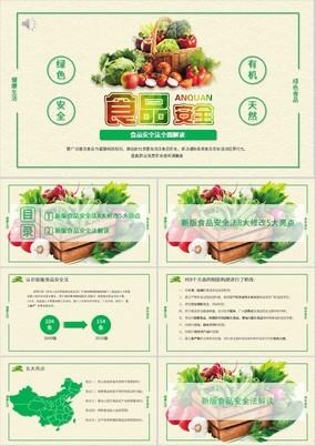 绿色小清新食品安全法全面解读PPT课件
