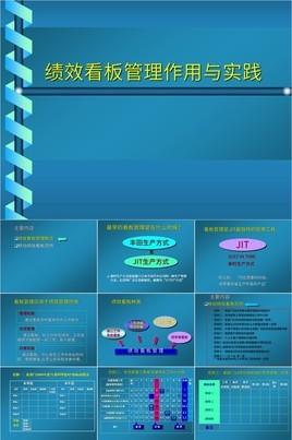 蓝色简约绩效看板管理作用与实践培训PPT模板