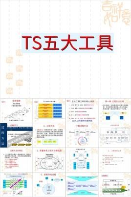 经典简约中国风TS五大工具应用讲解PPT模板