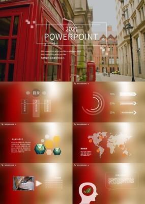 欧美简约风公司介绍宣传动态PPT模板
