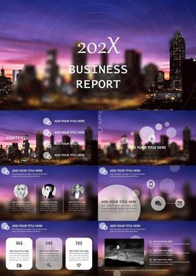 时尚欧美IOS风企业高级业务员商务会议PPT模板