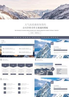 高质雪山商务复企业冬季营销策划商业计划书通用模板